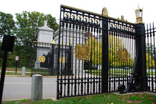 The gates at the Arlington National Cemetery.
