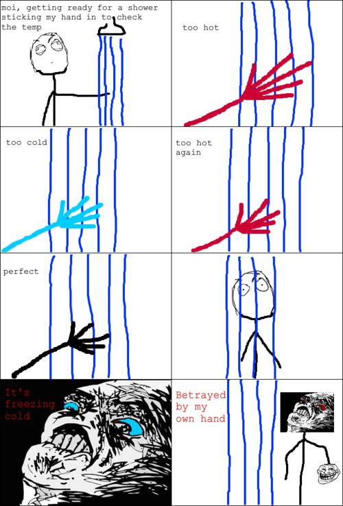 rage comic shower rage