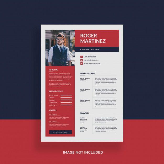 Minimalist Cv Resume Template Business Card Mock Up Cv Resume Template Resume Template