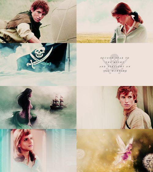 Fairytale → real life: Peter Pan Eddie Redmayne as Peter Pan  Emma Watson as Wendy Darling