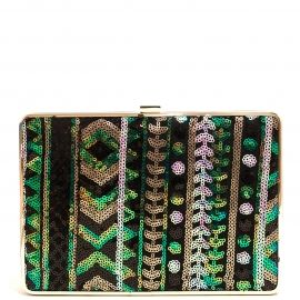 Bolso Clutch Verde Brillante