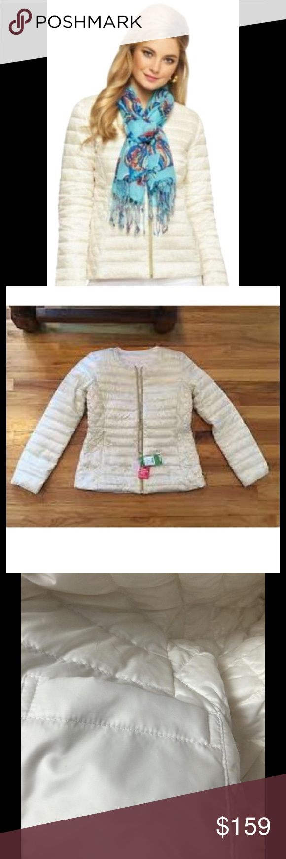Lilly Pulitzer Printed Reversible Lilah Coat This coat is reversible and lightweight yet will keep you warm on the slopes this winter. The lining is called I'm Game! Both sides are gorgeous and chic. One side is solid ivory colored. Grab now and stock up for the cold season while it's still available at this price! Lilly Pulitzer Jackets & Coats Puffers