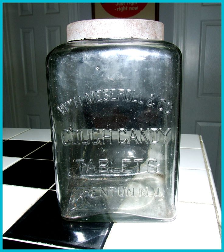 Nice William H Meseroll & Co. Cough Candy Jar. Trenton NJ ...