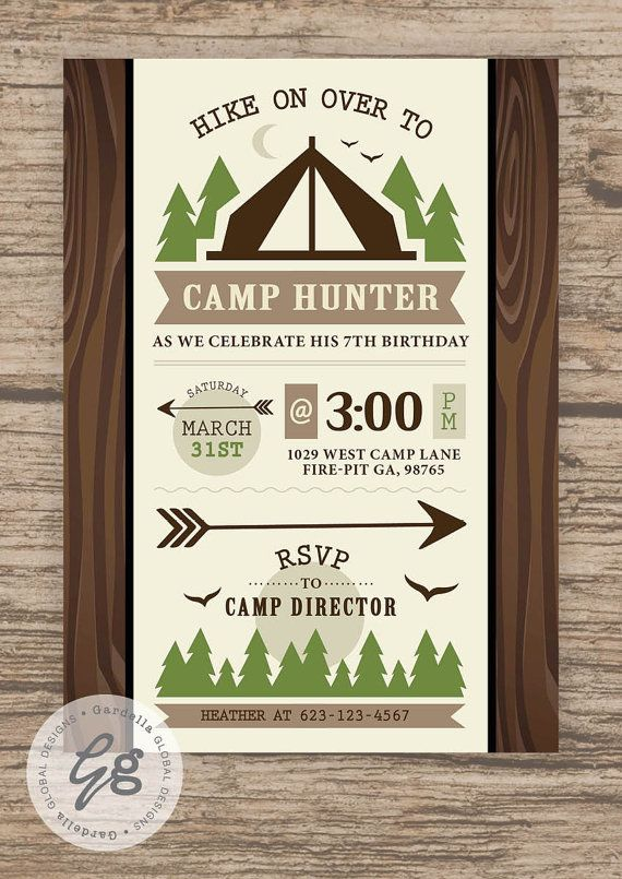 Camping Birthday Party, Camping Party, Camping Birthday, Camping invitation, Camping Invite, Camping Party, Campfire, Sleep Over Invitation, Camp Out, boy scouts, S'mores, Camping Party, Birthday, DIY, Cake, Cupcakes