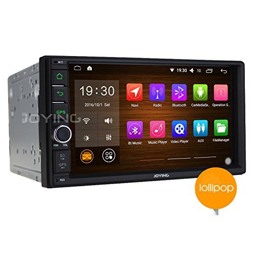 JOYING 7 NEW Developed Android 51 Car Radio Double 2 Din Quad Core 1024x600 Bluetooth WiFi Car Stereo Touch Screen GPS Navigation AM FM Indash Radio Receiver Head Unit Support Steering Wheel 1080P *** Continue to the product at the image link.