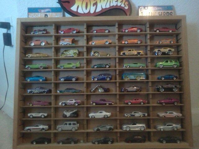 Hotwheela Display Shelf Grid Made From An Old Cassette