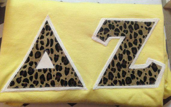 Cheetah Print Sorority Letter Shirt by EverythingPreppy on Etsy, $25.00