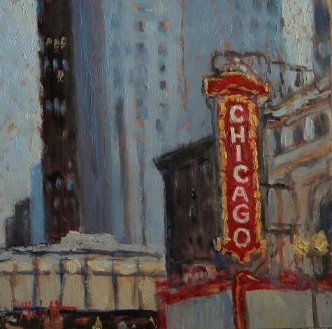 """Chicago Theater Painting"" ~ Heidi Malott"