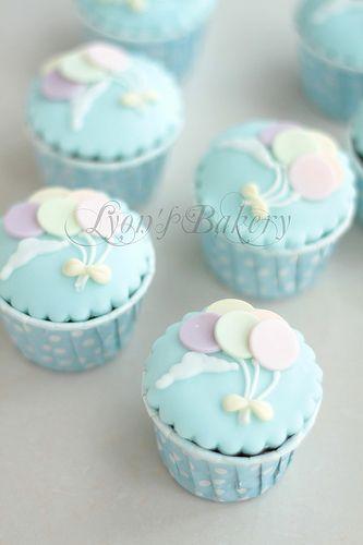 Cupcakes globos                                                                                                                                                      Más
