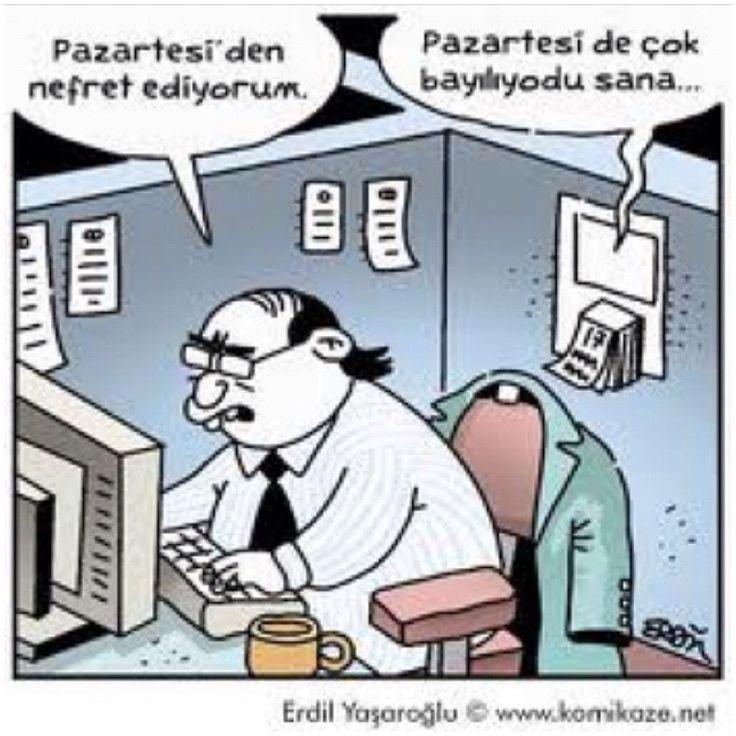 Karikatür pazartesinin çok umrundaydı :)