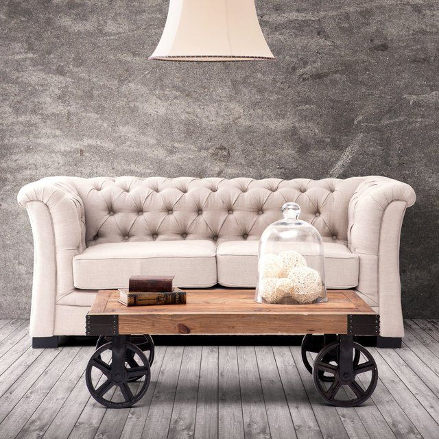 Those early 1900s industrial transportation systems can now reside on your living room with the help of this Barbary Coast Distressed Cart Table.