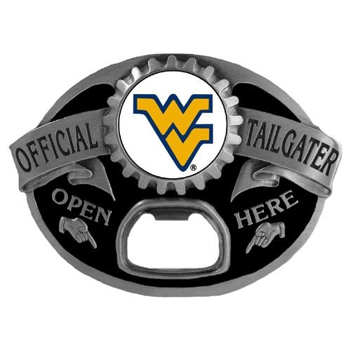 "Checkout our #LicensedGear products FREE SHIPPING + 10% OFF Coupon Code ""Official"" W. Virginia Mountaineers Tailgater Belt Buckle - Officially licensed College product Fully cast, metal buckle Bail fits belts up to 2 inches wide This unique buckle comes with a bottle opener W. Virginia Mountaineers buckle - Price: $25.00. Buy now at https://officiallylicensedgear.com/w-virginia-mountaineers-tailgater-belt-buckle-scb60tg"