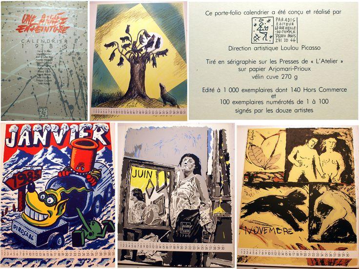 FIGURATION LIBRE/CALENDRIER/ED PARADIS/1985/1000 EX/LOULOU PICASSO/TOPOR/RARE   eBay