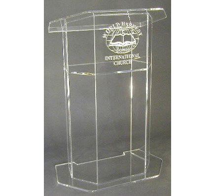 Hot penjualan Shiping Gratis Disesuaikan Acrylic Church Podium/Mimbar/Podium/Podium Podium Gereja Murah