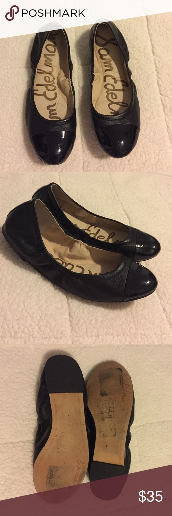 Black patent leather sam edelman flat Very good condition. Black leather. Sam Edelman Shoes Flats & Loafers