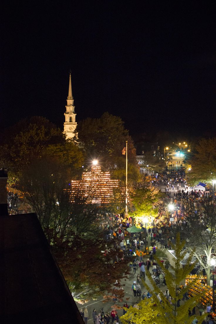 The Keene pumpkin festival has broken a world record for the most carved, lit jack-o'-laterns in one place.