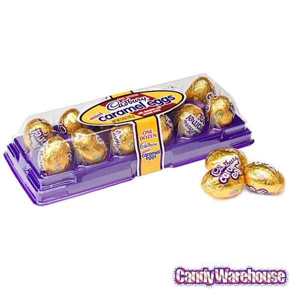 cadbury chocolate Eggs | Mini Cadbury Caramel Filled Milk Chocolate Eggs: 12-Piece Tray ...