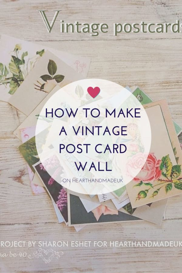 How to make a vintage postcard wall