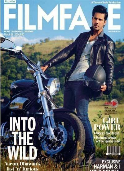 Varun Dhawan Filmfare Magazine Cover Photoshoot Pics March 2014 #Filmfare