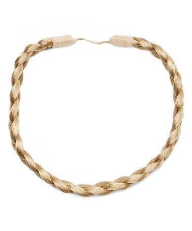 Dark Blonde Braid Band Hair Extension #zulily #zulilyfinds