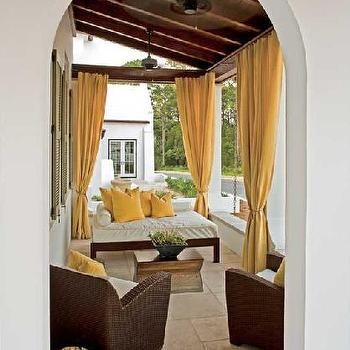 Yellow Outdoor Curtains