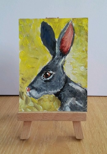 Pagan March Hare ACEO