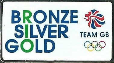 Team GB Bronze Silver Gold Limited Edition Rio 2016 Olympic Pin