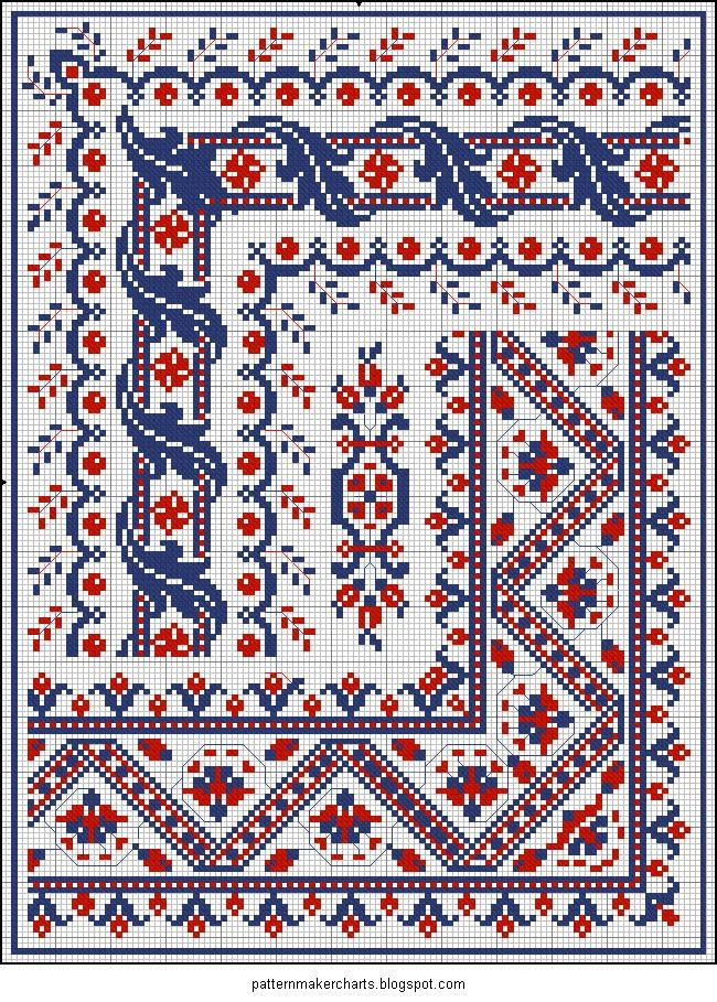 Free Easy Cross, Pattern Maker, PCStitch Charts + Free Historic Old Pattern Books: Sajou No 186 Más