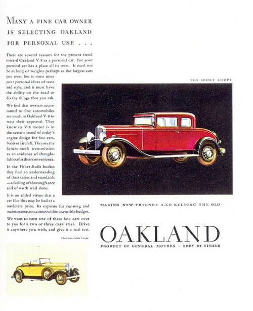 28 Best Oakland Car Ads Images On Pinterest Vintage Cars Vintage Ads And Advertising