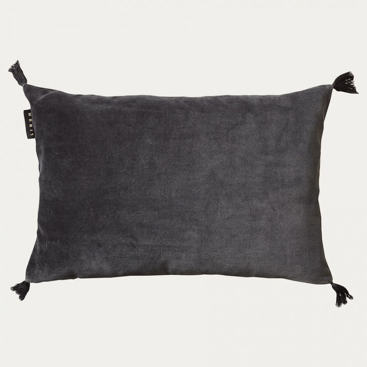 Kelly Cushion Cover – Dark Charcoal Grey | Autumn | Collections | Cushion covers | Living | Linum