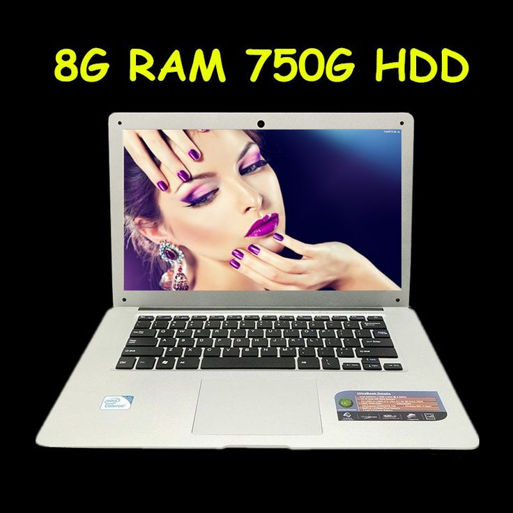 14 inch windows7/8.1 laptop In-tel Celeron J1900 8G ram 750G HDD 2.0GHZ Quad Core WIFI HDMI WEBCAM USB3.0 Ultrabook //Price: $352.80//     #Gadget