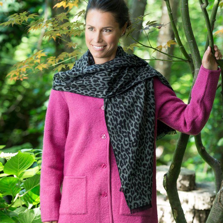 100% Silk Scarf Grey Black Leopard http://www.creswickwool.com/accessories/scarfs/100-silk-scarf-grey-black-leopard.html