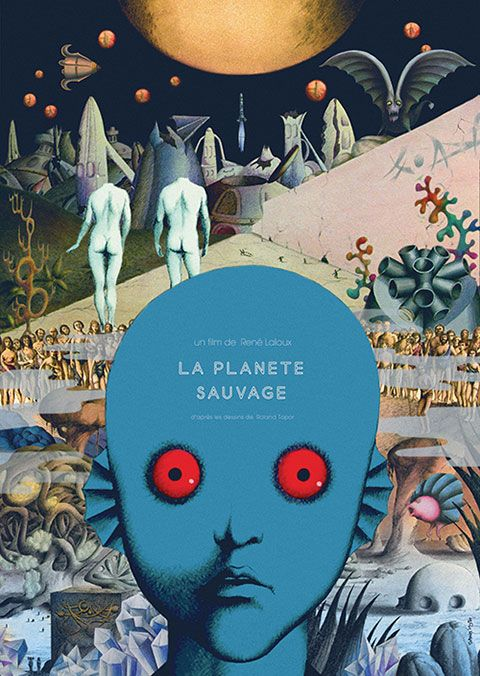 ✖ La Planète Sauvage, René Laloux - poster for Cinefil Imagica Japanese blu-ray, designed by Sam Smyth