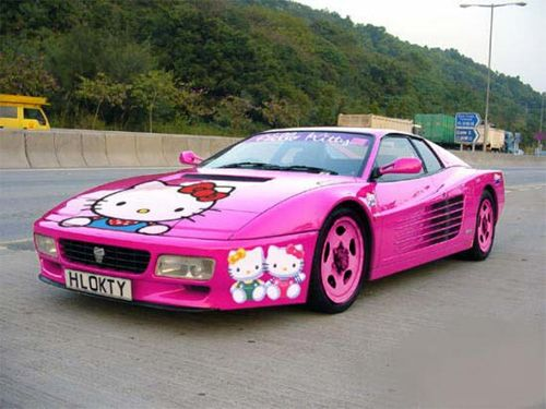 oh good you found my car!!Hello Kitty Cars, Sports Cars, Funny Pics, Pink Cars, Pinkcars, Ferrari, Future Cars, Hellokitty, Dreams Cars