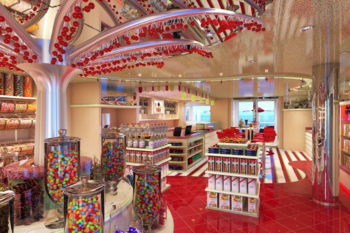 cherry on top sweet shop on Carnival Vista