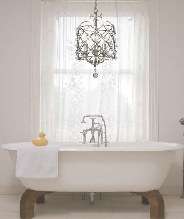 36 Small Bathroom Chandeliers Ideas, Small Contemporary Bathroom Chandeliers