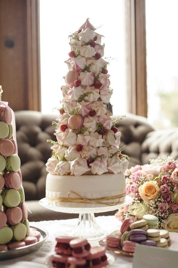 Meringue & Macaron wedding cake