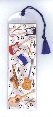 "Bookmarks in Vinyl Sleeves - Instruments by Music Treasures Co.. $2.50. Bookmark in a vinyl sleeve & includes colored tassel. 2.75"" x 8.75"""