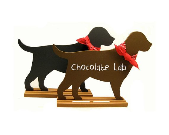 LABRADOR Dog Breed Shaped Chalkboard - Choose black lab, chocolate lab or yellow lab - Fun and Unique on Etsy, $38.00