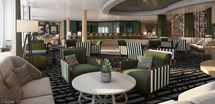 TDoS Design for P&O Australia, Pacific Aria & Eden - Ocean Bar