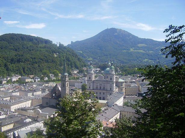Salzburger Dom from the Mönchsberg