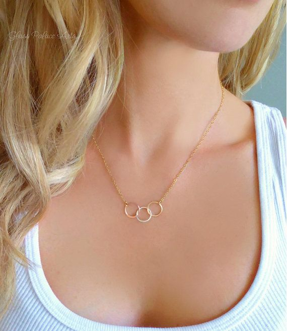 friendship jewelry gift for friend Simple y necklace open circle necklace eternity necklace silver y necklace gold lariat necklace