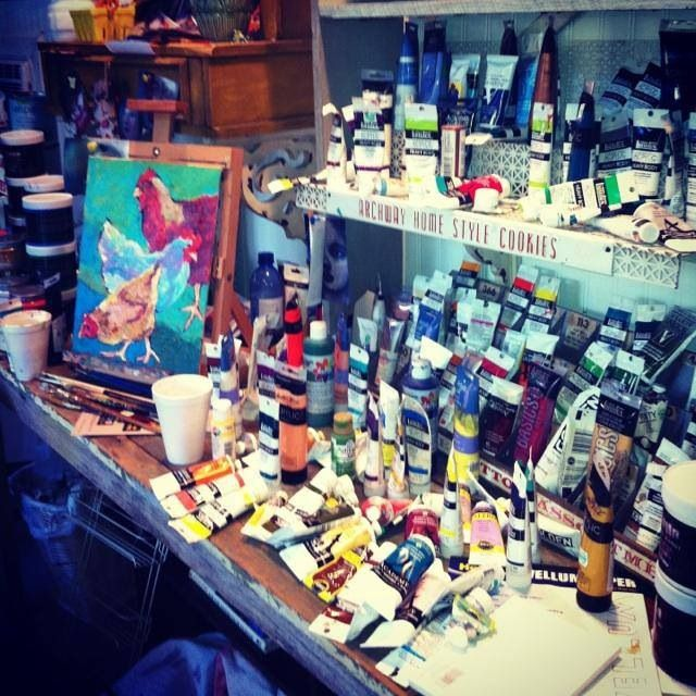 Dana Cargile #art.   Love my art studio!