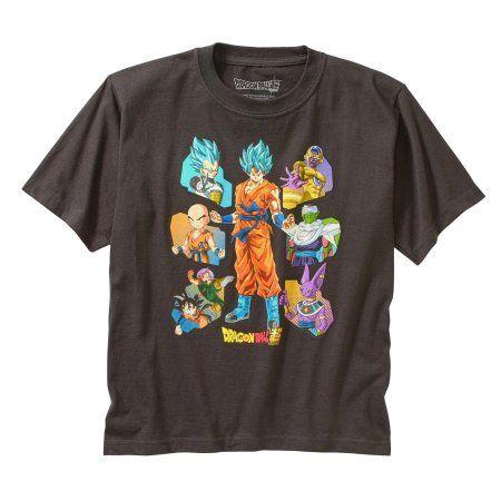 Super Dragon Ball Z Boys' Short Sleeve Character T-Shirt, Size: 10/12, Gray
