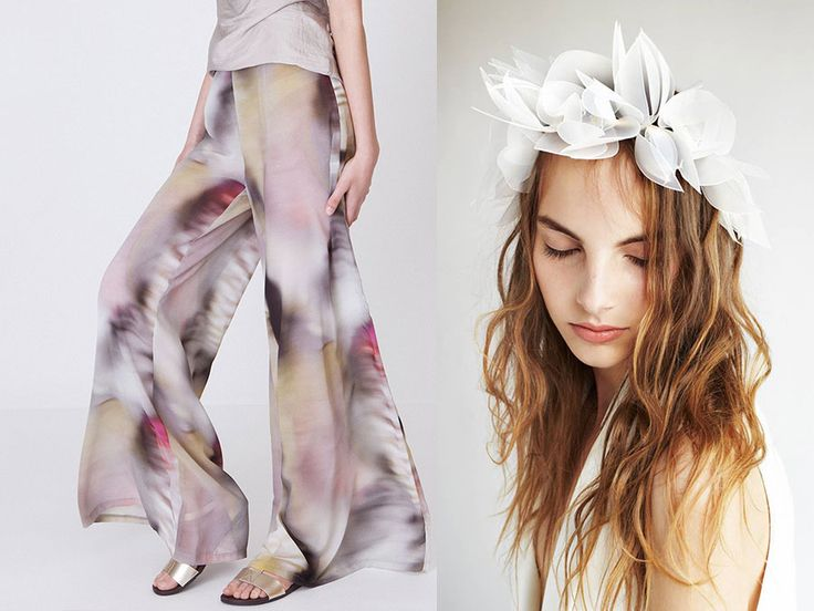 Inspirations from Designrs.co blog! Unique headband inspired by nature and a perfect stylish palazzo.