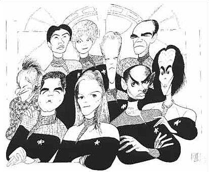 Google Image Result for http://img.trekmovie.com/images/merchandise/hirsch-voy.jpg: Google Image, Star Trek Travel, Trek Art, Hirschfeld Caricatures, Photo Album, Google Search, Al Hirschfeld Caricaturist, Startrek, Star Trek
