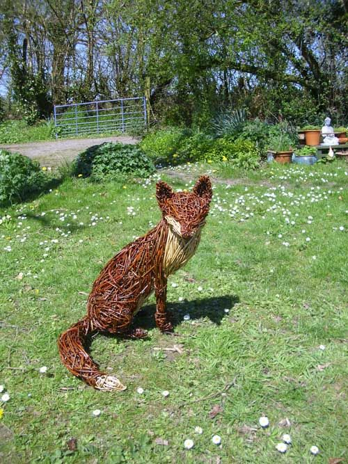 woody fox willow sitting fox - Google Search