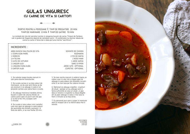 Gulas Unguresc cu Carne de Vita si Cartofi