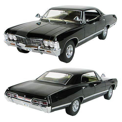 WANT!!!  Supernatural Black 1967 Impala 1:18 Scale Die-Cast Vehicle