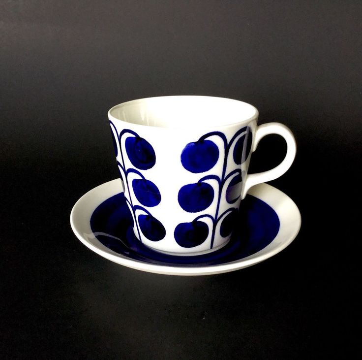 Rare Early Vintage Arabia Finland Coffee Cup & Saucer. Design Esteri Tomula